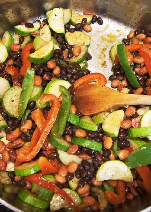 Loaded Vegetable Beans and Rice