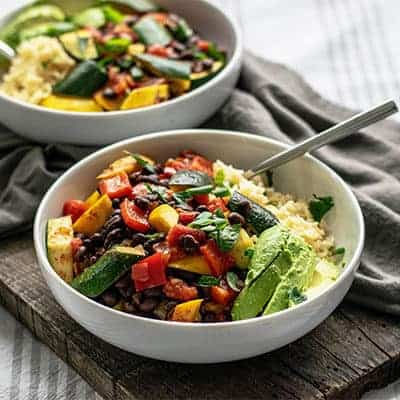 Vegan Loaded Vegetable Beans and Rice