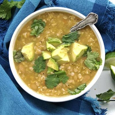 Crockpot Vegan Green Chili Soup