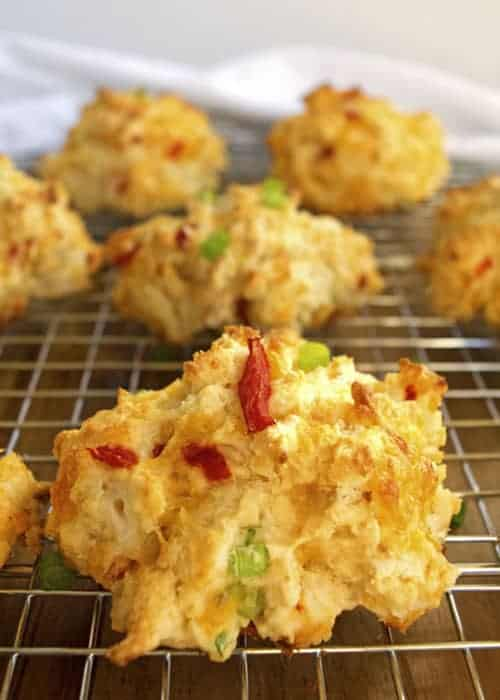 Christmas Drop Biscuits are perfect for a Christmas morning brunch. Add some sliced ham, and you have a great holiday appetizer.