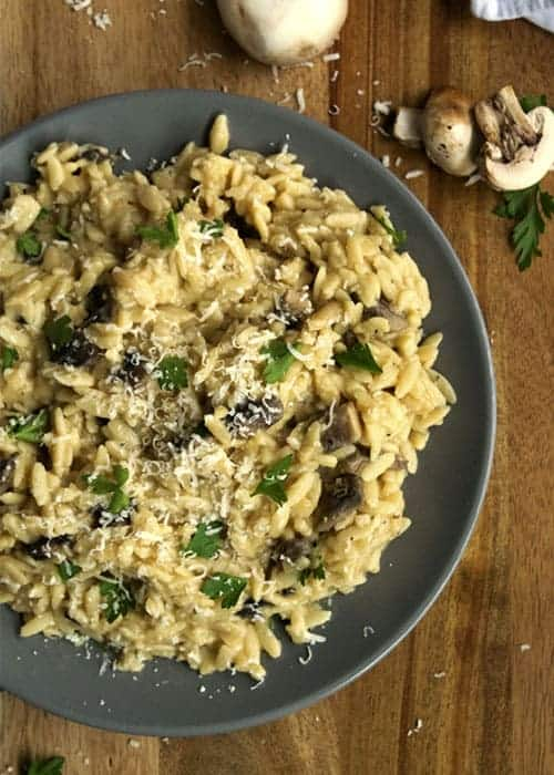 30 Minute Mushroom Orzo Risotto | The Hungry Waitress