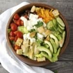 This Big Greek Salad is a go to when I crave something healthy and delicious. Load it up with some chicken or shrimp for a hearty dinner salad. My homemade dressing is easy to whip up and so much better than those bottled dressings.