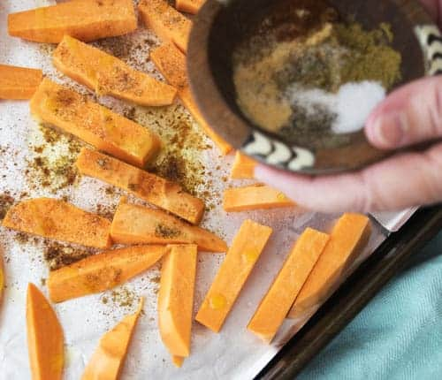 Seasoning for the Zesty Oven Baked Sweet Potato Fries