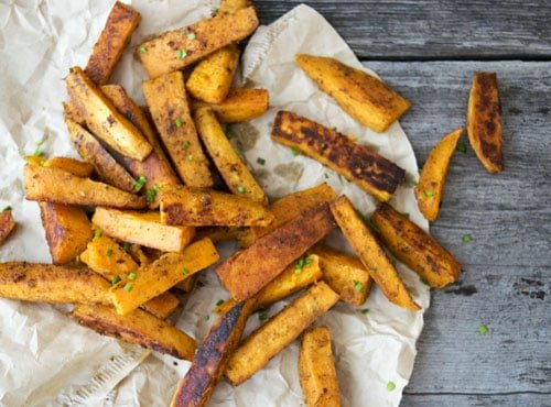 Zesty Oven Baked Sweet Potato Fries are a healthy side dish recipe. The combination of sweet and spicy will make your taste buds happy.