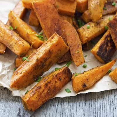 Zesty Oven baked Sweet Potato Fries | The Hungry Waitress
