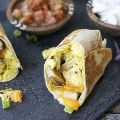 Breakfast Burritos + The Perfect Scrambled Eggs