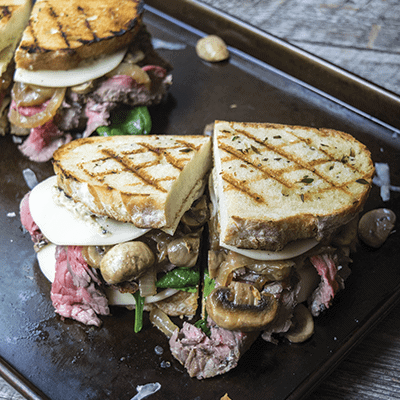 Steak Sandwiches with Pesto Mayonnaise