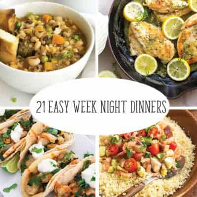 21 Week Night Meals