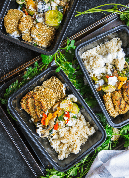 Protein Packed Falafel Bowls Meal Prep