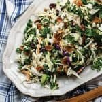 Simple Kale Slaw with an Egg-less Dressing