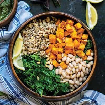 Vegan Sweet Potato and White Bean Bowl