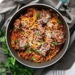 One Pot Spaghetti and Meatballs