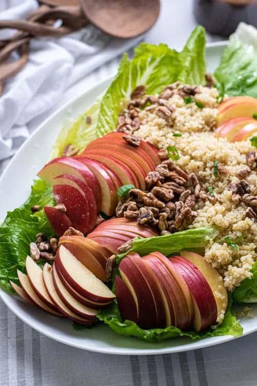 Vegan Apple Quinoa Salad with Maple Balsamic Vinaigrette