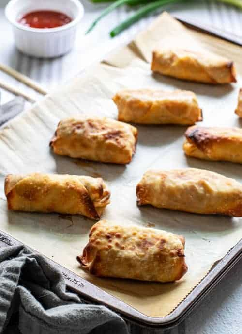 Baked Homemade Vegetable Egg Rolls