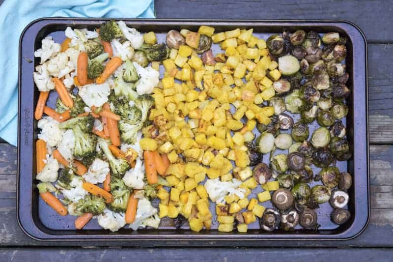 Roasted Vegetables are my go to side recipe. Vegetables just tasted better roasted! | The Hungry Waitress