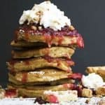 Pumpkin Pie Pancakes are great for using up those pumpkin pie leftovers! | The Hungry Waitress