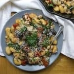 Gnocchi with Mushrooms and Artichokes are a great weeknight recipe! | The Hungry Waitress