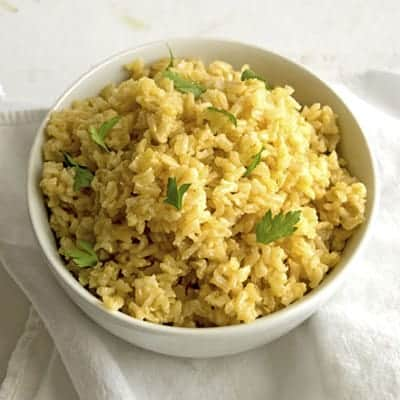 All-Purpose Brown Rice is a healthy side recipe. | The Hungry Waitress