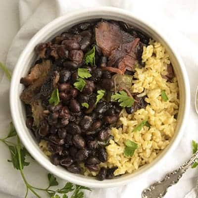 Crock Pot Cuban Black Beans is a easy weeknight meal. | The Hungry Waitress