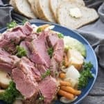 Crockpot Corn Beef and Cabbage is an easy weeknight dinner recipe. I add potatoes, carrots, and beer to give this recipe more flavor.