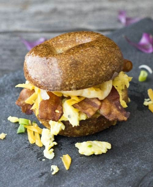 Breakfast Sandwich are great for using up breakfast or brunch leftovers.