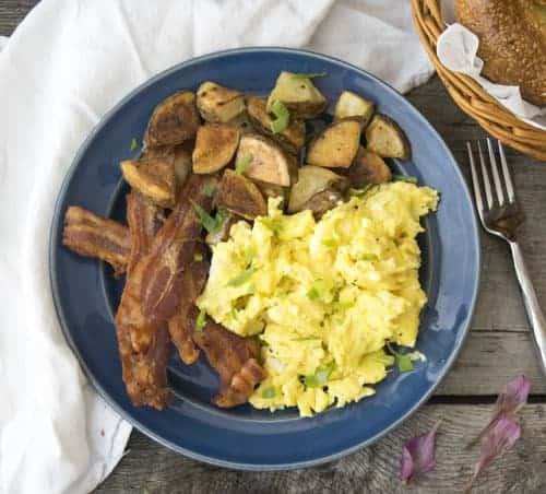 Perfect Scrambled Eggs are a staple breakfast recipe.