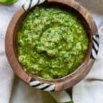 bowl of green pesto