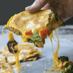 Farmers Market Quesadilla is stuffed with vegetables, and is a great way to use up leftovers.