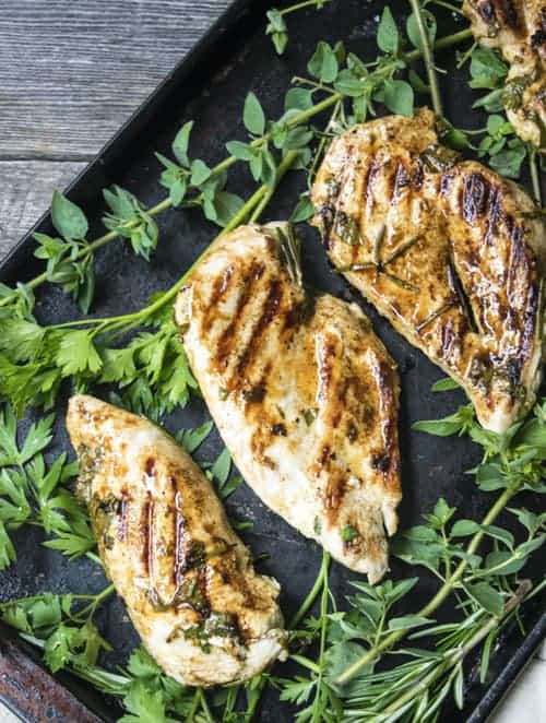 Easy Greek Chicken by The Hungry Waitress