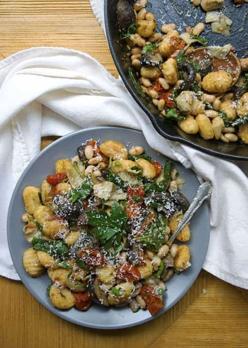 Gnocchi with Mushrooms and Artichokes by The Hungry Waitress