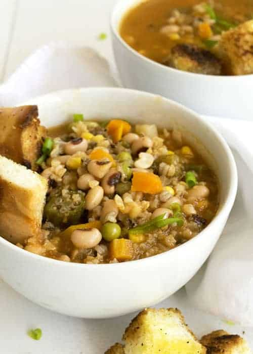 Black Eyed Pea and Wild Rice Soup by The Hungry Waitress
