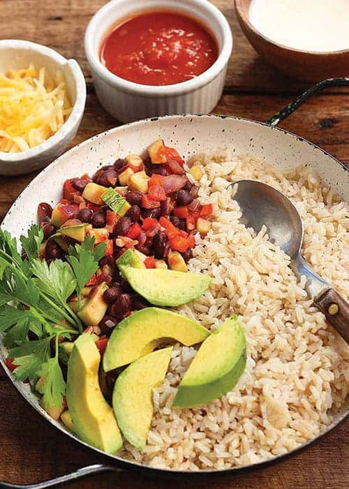 Hearty and Flavorful Vegetarian Burrito Bowl by Foodal