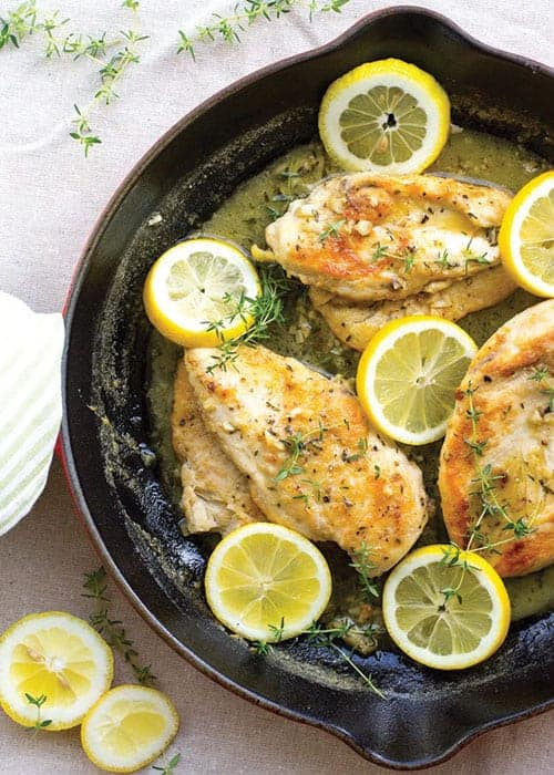 Quick Lemon Thyme Chicken by Nourish and Fete