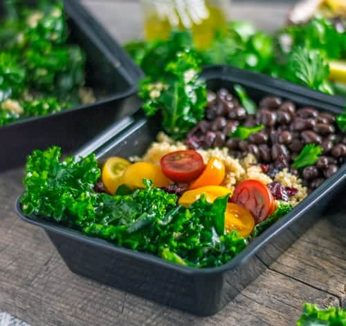 Meal Prep this Kale and Quinoa Salad