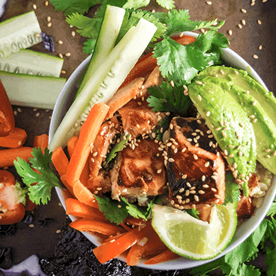 Cook Salmon Poke Bowl