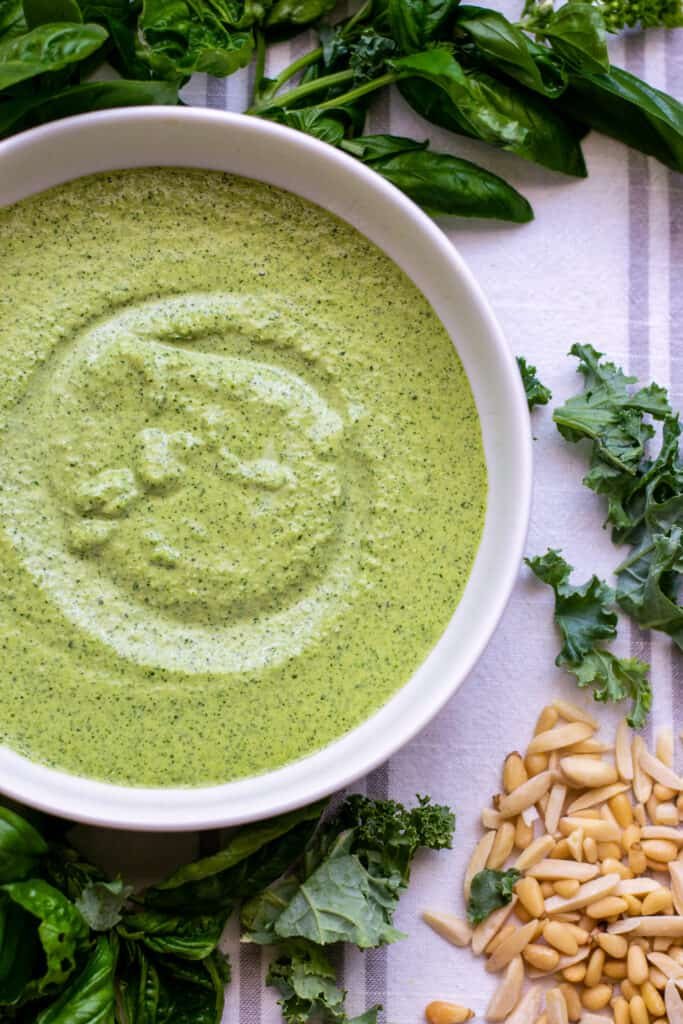 Vegan Homemade Pesto in a Blender