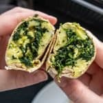 Meal Prep Spinach, Egg, and Cheese Breakfast Burritos