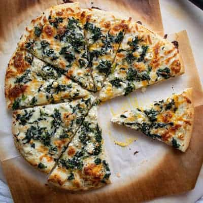 Homemade White Pizza