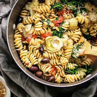 One-Pot Mediterranean Vegetable Pasta