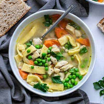 Easy Chicken Noodle Soup with Homemade Noodles