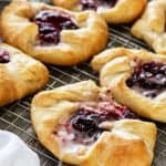 Pan of Cranberry Cream Cheese Crescent Danish